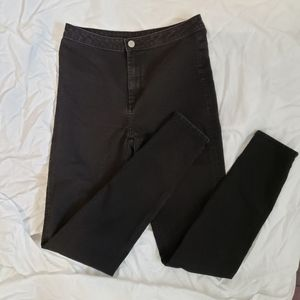 🌟 H&M High Waisted Black Jeans